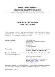 ZNALECKÝ POSUDEK číslo: 4193-339/2012 - e-aukce