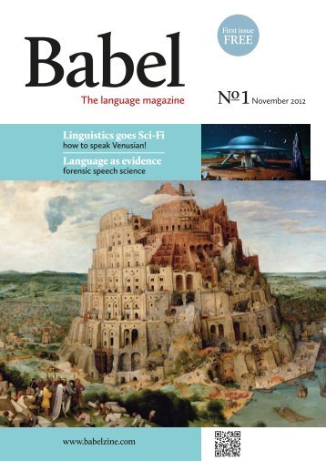 The language magazine Linguistics goes Sci-Fi Language ... - Babel