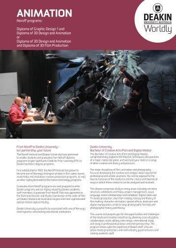 Bachelor of Creative Arts (Film and Digital Media) - Animation Major
