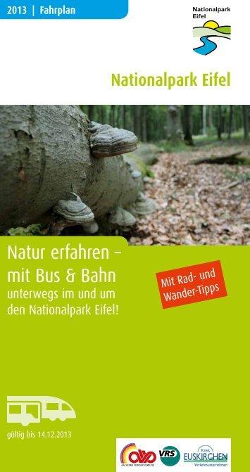 Natur erfahren – mit Bus & Bahn - VRS