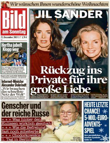 Rückzug ins Private für ihre große Liebe - sonntagsmarkt-vertrieb.de