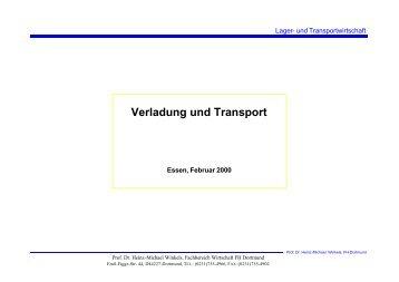 Verladung und Transport - Prof. Dr. Heinz-Michael Winkels