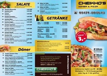Flyer - Herzlich Willkommen bei Cheikhos Döner & Pizza