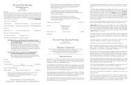 august 18, 2013 bulletin - Eastwood Presbyterian Church