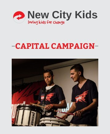 Capital Campaign booklet (pdf) - New City Kids