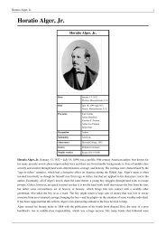 Horatio Alger, Jr. - Classici Stranieri