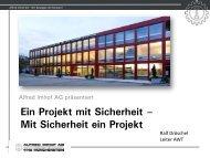 Ein Projekt mit Sicherheit – Mit Sicherheit ein Projekt - Alfred Imhof AG