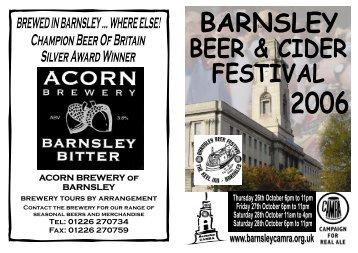 ACORN BREWERY of BARNSLEY - Barnsley CAMRA