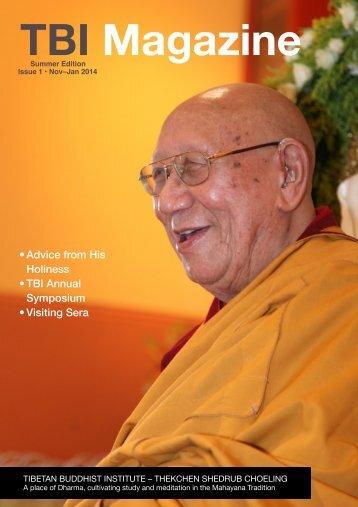 Nov-Jan Magazine (pdf) - Tibetan Buddhist Institute
