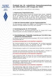 Protokoll 44. GV / 2013 - UHF-Gruppe der USKA
