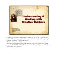 Understanding & Working With Creative Thinkers - Klein ...