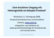 'Vom kreativen Umgang mit Heterogenität am Beispiel Finnland'