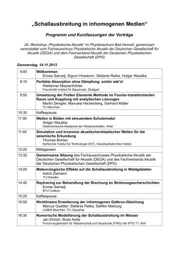 Programm (PDF) - Deutsche Gesellschaft für Akustik eV