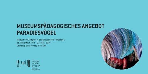 PDF - Angebote für Kindergarten und Schulen - Tiroler Landesmuseen