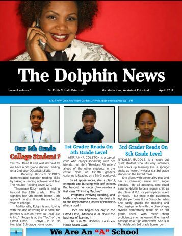 THE DOLPHIN NEWS APRIL 2012 - Parkview Elementary School