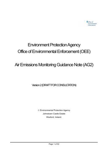 Air Emissions Monitoring Guidance Note (AG2) - Environmental ...