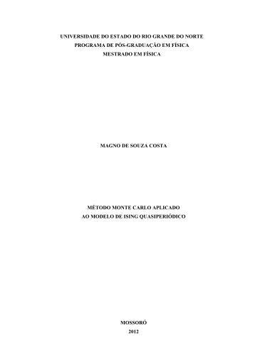Método Monte Carlo Aplicado ao Modelo de Ising ... - UERN