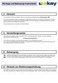 Montage und Bedienung Funkzylinder Funkzylinder U&Z - ekey - Page 3