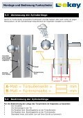 Montage und Bedienung Funkzylinder Funkzylinder U&Z - ekey - Page 5