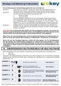 Montage und Bedienung Funkzylinder Funkzylinder U&Z - ekey - Page 6