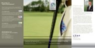 Faltblatt Anti-Doping im Golf - Golf.de