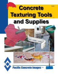 Concrete Texturing Tools and Supplies - Pacific Concrete Images