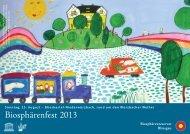 Programm Biosphärenfest 2013 - Gemeinde Gersheim
