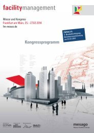 Facility Management FM 2014 Messe - Kongressprogramm - DGWZ