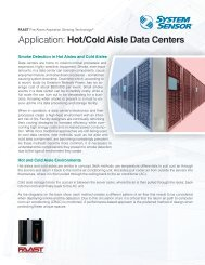 Application: Hot/Cold Aisle Data Centers - System Sensor