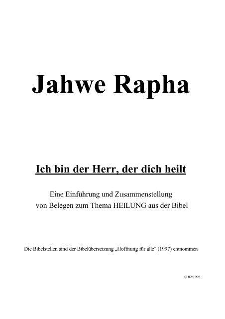 Eine Einführung und Bibeltexte zum Thema: Heilung - Trinitatis ...
