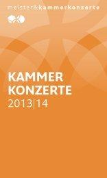Meister & Kammerkonzerte