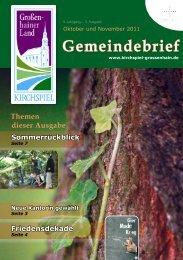Gemeindebrief Oktober und November 2011 - Kirchspiel ...