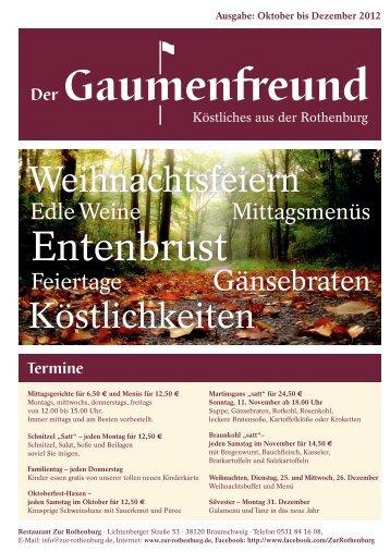 Gaumenfreund 4-2012 - Restaurant zur Rothenburg
