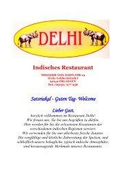 Unsere Speisekarte - Indisches Restaurant Delhi