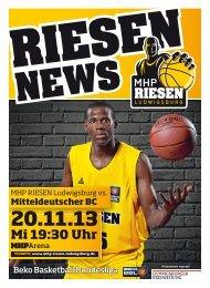 MHP RIESEN vs. Mitteldeutscher Basketball Club - 20.11.2013