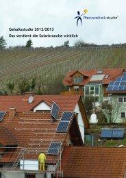 Leseprobe: Gehaltsstudie 2012/2013 - Photovoltaikstudie