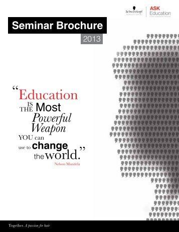 Seminar brochure - ASK Education for Hairdressers