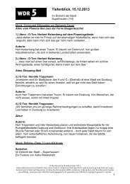 Im Dickicht der Stadt (1/4): Superhausen (PDF-Download ... - WDR 5