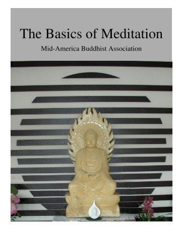The Basics of Meditation - Mid-America Buddhist Association