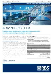 Autocall BRICS Plus - RBS - Sweden