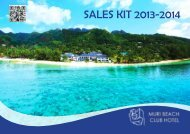SALES KIT 2013-2014 - World Resorts of Distinction