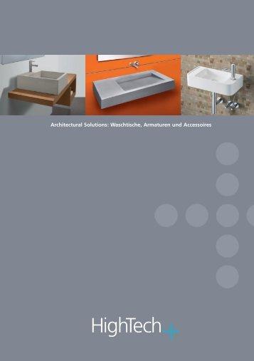 Architectural Solutions: Waschtische, Armaturen und Accessoires