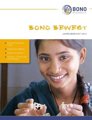 Jahresbericht 2013 ansehen - BONO Direkthilfe eV