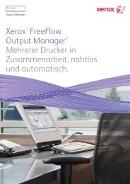 Xerox® FreeFlow Output Manager® Mehrerer Drucker in ...