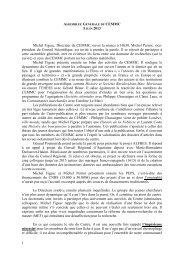 Compte rendu du l'Assemblée générale du 05 juin 2013 - CEMMC