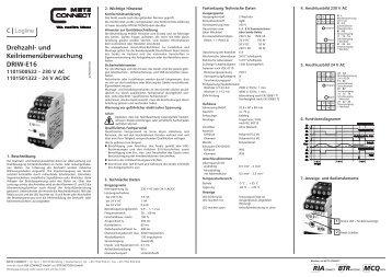 Drehzahl- und Keilriemenüberwachung DRIW-E16