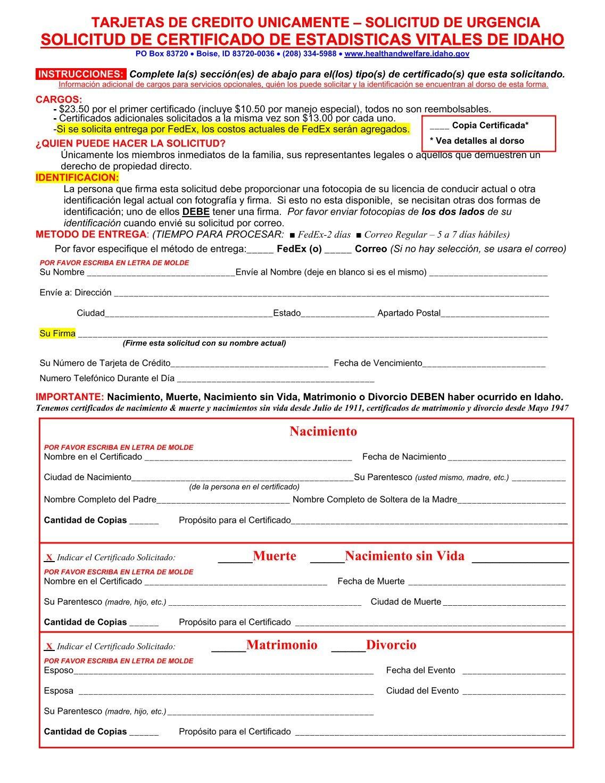 Encantador Certificado De Nacimiento Estadísticas Oregon Vital ...