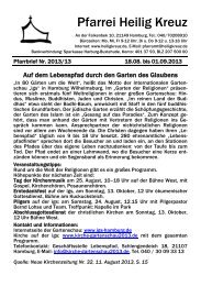 Pfarrei Heilig Kreuz - Katholische Kirchengemeinde Heilig Kreuz ...