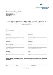 Antrag auf Vorprüfungsdokumentation - Hochschule Ingolstadt
