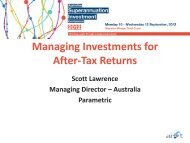 Managing Investments for After-Tax Returns